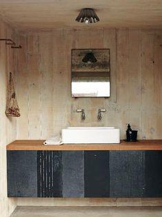 Camp-Style Bathroom by Mark and Sally Bailey UK, Remodelista Rustic Bathroom Designs, Modern Bathroom Design, Bathroom Interior Design, Interior Modern, Dream Bathrooms, Beautiful Bathrooms, Small Bathroom, Bathroom Ideas, Bad Inspiration