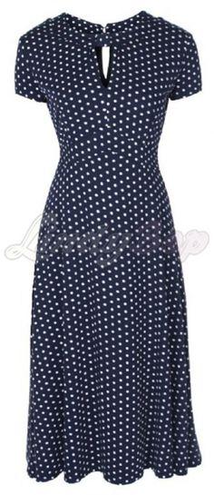 Lindy Bop Juliet Dress Navy | Jurken | Miss Vintage | Retro, vintage geïnspireerde dames kleding