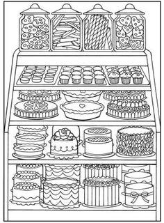 Creative Haven Designer Desserts Coloring Book by melisa