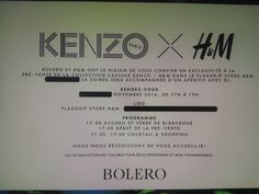 VIP Invitation Kenzo  - H&M - It is today!!! Convite VIP Kenzo - H&M - Hoje