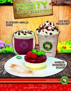 Jetzt neu! - Iced Oreo Moccacino® - Blueberry-Vanilla Shake - Himbeer-Rhabarber Dessert  In allen teilnehmenden Coffeeshop Company Filialen in Österreich!   Lass es dir schmecken!