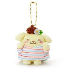 Sanrio Pom Pom Purin Mascot Holder Doll Hoppe Gyu Put Hands on Cheeks from Japan #Sanrio