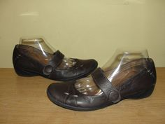 Natural Soul By Naturalizer Womens Shoes Dark Brown Leather Mary Janes Sz 8.5   #Naturalizer #MaryJanes #BusinessCasual