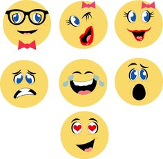 Emoji Notecard Faces cutting file. Very fun!