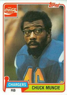 1981 Coca-Cola/Topps San Diego Chargers #8 Chuck Muncie Front