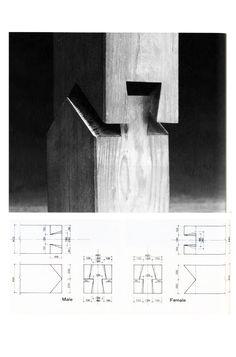 """En Detalle: Especial / Los ensambles de madera en la arquitectura japonesa tradicional,Empalme de """"Puerta de Castillo Otemon"""""""