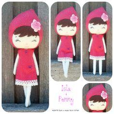 100% handmade felt doll made using an adapted Ginger Melon pattern #felt #doll