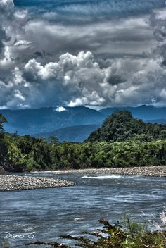 Andes seen from the Amazon  Amazon River  #Brazil |  Photo By -  Dano Grayson