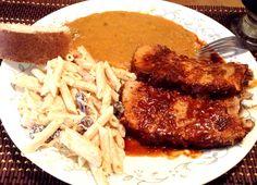 Pierna adobada Mexico Food, Tasty, Yummy Food, China, Mexican Food Recipes, Crockpot, Steak, Pork, Food And Drink