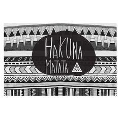 "Vasare Nar ""Hakuna Matata"" Decorative Door Mat"