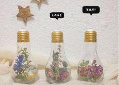 電球の中にお花を詰め込むだけ*簡単DIY×レトロかわいい『電球オブジェ』って知ってる?