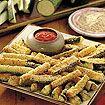 crispy zuchinni sticks...Yummy! One of my favorite snacks!