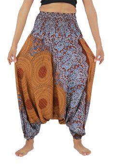 Thai Harem Pants Yoga Pants Drop Crotch Aladdin Pants by NaLuck