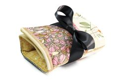 Make up organizer lady in yellow Makeup Storage Roll by LilachOren