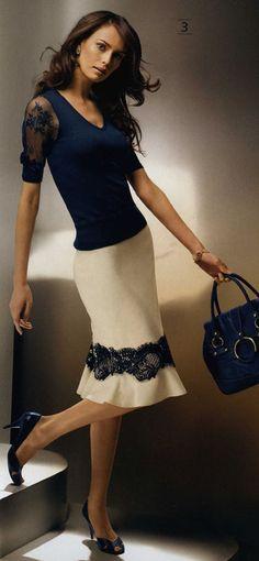 . Love Fashion, Fashion Outfits, Womens Fashion, Skirt Outfits, Dress Skirt, Pretty Outfits, Cool Outfits, Classy Suits, Lesage