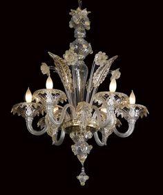 Early 20th c. Venetian Murano chandelier : Lot 31