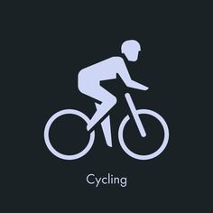 Cycling - Sports Icon Design by Sascha Elmers #icon #iconic #iconography #picto #pictogram #symbol #sport #sports #olympic #athlete #sportsm