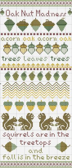 Oak Nut Madness, designed by Remy Lawler, blogger for Embroiderbee's Primary Hive.