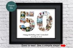 37 Best Number Word Name Photo Collages Images In 2020 Birthday