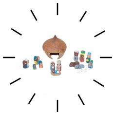 This charming, hand painted nativity set is a wonderful way to decorate for Christmas!  The stable is made from a coconut shell and the adorable figurines are made from clay.  #vineworks #coconutnativity #nativityscene #christmasdecor #christmas #coconut Coconut Shell, Fair Trade, Nativity, Shells, Christmas Decorations, Clay, Hand Painted, Holiday, Painting