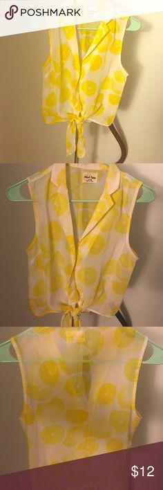 Lemon Knot Button Up Tank Lemon Knot Button Up Tank PacSun Tops Tank Tops