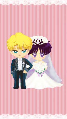 Jadeite & Rei Wedding. Sailor Moon Games, Sailor Moon Fan Art, Sailor Moon Character, Sailor Chibi Moon, Sailor Moon Crystal, Sailor Moon Background, Sailor Moon Wallpaper, Sailor Moom, Sailor Jupiter