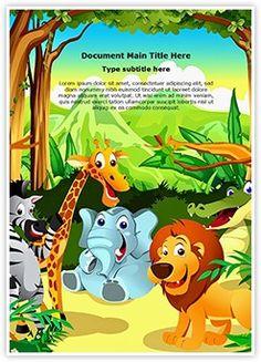 Jungle Word Document Template is one of the best Word Document Templates by EditableTemplates.com. #EditableTemplates #PowerPoint #templates #Zebra #Ostrich #Jungle #Mammal #Leopard #Rhinoceros #Giraffe #Forest #Africa #Amazon #Hippopotamus #Wildlife #Lion #Hippo #Tiger