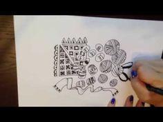 ゼンタングル描いてみた③編み物テーマゼンタングル Zentangle - YouTube