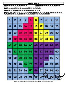 Kite Hundreds Chart Hidden Picture Activity for Spring and