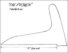 Woodworking Template: Table Saw Push Sticks   Kurt's Blog ...