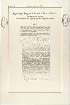 Our Documents: Civil Rights Act (1964)