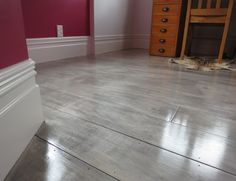 gray painted plywood plank floors I am so doing this.replacing my carpet over the concrete floor in my home gym. Plywood Plank Flooring, Diy Wood Floors, Painted Wood Floors, Plywood Walls, Diy Flooring, Stained Plywood Floors, Inexpensive Flooring, Wood Beams, Flooring Ideas
