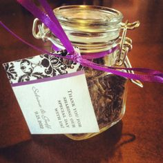 Loose Tea Wedding Favors - this would be perf with your theme, Em
