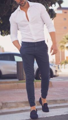 Stylish Men Casual Clothes is part of Loafers men outfit - Formal Dresses For Men, Formal Men Outfit, Casual Wear For Men, Dress Formal, Men's Formal Wear, Semi Formal Outfits, Formal Shirts For Men, Men Formal, Trendy Mens Fashion