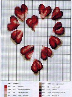 Схемы вышивки валентинок 11