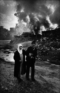 Photogs and Photograph's Photographer of the Day for October 26th, 2012 -- Don McCullin... (1935 - ) photojournalist and war photographer... Palestinians driven from the enclave of Quarantina, East Beirut, Lebanon, 1976