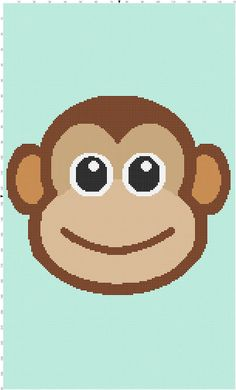 Baby Monkey Crochet Afghan Graph Pattern
