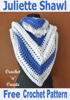 Free Crochet Pattern-Juliette Shawl - This stylish shawl can be worn in a few different ways, it is made in a medium worsted weight yarn using a hook. I have designed it in a simple double crochet and bobble stitch pattern, so hope you enjoy making it. Crochet Scarves, Crochet Shawl, Crochet Hooks, Free Crochet, Knit Crochet, Crochet Things, Crochet Clothes, Crochet Baby, Crochet Wrap Pattern