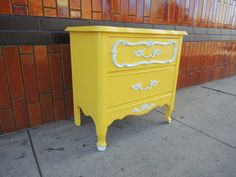 French Provincial Mid Century Modern Nightstand in by HouseCandyLA