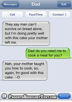 Funny text from a dad to his daughter!