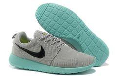 2013 New Women's Nike Roshe Run Shoes Gray Jade Black - Women's Roshe Run Shoes