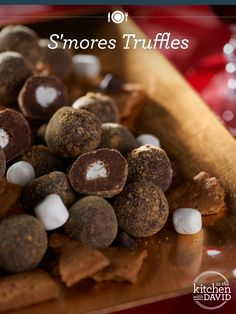 No. Baking. Required! These S'mores #Truffles are divine!
