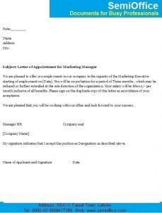 Sales appointment letter appointment letters pinterest appointment letter for marketing executive and manager spiritdancerdesigns Choice Image