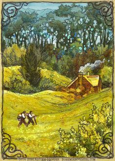 'The furthest I've ever gone' Sam and Frodo leave the Shire. Soni Alcorn-Hender