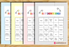 Today I have made Free Printable Baby Shower Bingo Game Cards in 4…