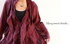 Sweet love...jacket tunic blouse...mix silk all by cocoricooo, $49.00