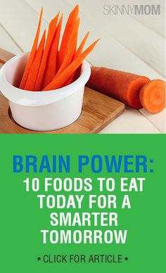 Brain power is extremely important! Get 10 foods to eat today for a smarter tomorrow!