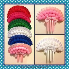 Peinecillos 8€/unidad Beautiful Long Hair, Ribbon Crafts, Hair Comb, Necklace Designs, Dance Costumes, Diy And Crafts, Doilies, Boy Fashion, Crochet