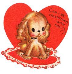 Vintage cocker spaniel puppy Valentine.