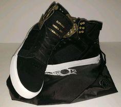 e600b89faaf RARE Supra Muska 001 Checkmate 2015 100k Black Men's High-Top Shoes Size  10.5 #